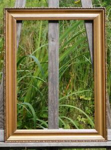 alter Prunkrahmen Holzrahmen Massivholz 54 x 41 cm FM 45 x 32 cm