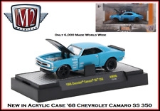 New M2 1/64 Diecast Car '68 Chevrolet Camaro SS 350 in a Acrylic Display Case