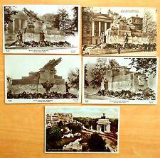 5 Vintage Postcards ROYAL ARTILLERY MEMORIAL HYDE PARK CORNER London UK 4 rppc