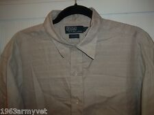 Men's Ralph Lauren Polo Gardner Brown & White Plaid XL Long Sleeve Shirt