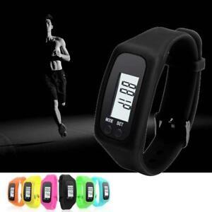 Digital LCD Pedometer Calorie Counter Run Step Walk Distance Bracelet Watch PO