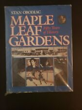 """1981 MAPLE LEAF GARDENS """"50 YEARS OF HISTORY"""" VINTAGE BOOK BY STAN OBODIAC RARE"""