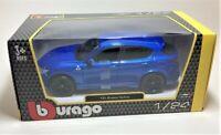 New BBURAGO Blue Alfa Romeo Stelvio 1/24 1:24 Scale Die Cast Car Model Burago