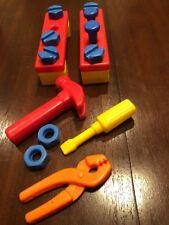 Vintage Tinker Toy Plastic Building Tools Hammer Screwdriver Screws Wrench