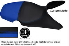 ROYAL BLUE BLACK AUTOMOTIVE VINYL CUSTOM 01-07 FITS BMW F 650 GS DUAL SEAT COVER