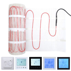 200W Electric Underfloor Heating Floor Cable Mat Kit Touchscreen WiFi Thermostat