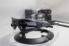 New Oakley Straight Jacket Sunglasses Crystal Black w/Grey Lens 30-988