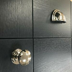 Polished Nickel Kitchen Cup Handles and Cupboard Knobs made from Solid Brass