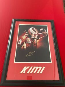 Kimi Raikkonen hand Signed poster 2007