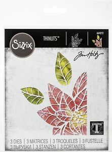 Sizzix Thinlits Dies By Tim Holtz-Poinsettia Pieces