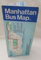 Vintage 1980 MTA Manhattan Bus Map New York City Transit Authority Graffiti