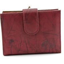 Portafogli e borsellini da donna in pelle rossa