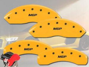 2009-2011 Audi A6 Base Front + Rear Yellow Engrave MGP Brake Disc Caliper Covers
