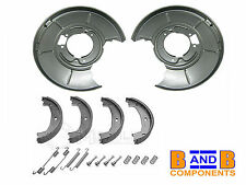 BMW E46 316i-328i REAR DISC BRAKE BACK PLATES BRAKE SHOES & FITTINGS A1075