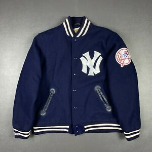 100% Authentic NY Yankees Mitchell & Ness Wool Jacket Size 40 M Mens