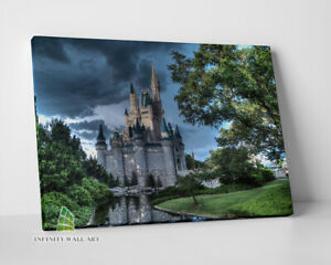 DISNEY Castle Fairytale Canvas Art Wall Art Print Children Kids Picture -C758