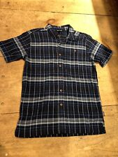 Patagonia Mens A/c Short Sleeve Button up Shirt Abyss Navy Blue XS