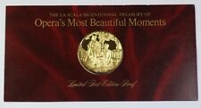 La Scala Operas Most Beautiful Moments Gold-Plated 925 Silver Medal Carmen Bizet