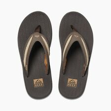 Reef Mens Flex Sandal Flip Flops Dark Brown Tan Khaki Size 10 BRAND NEW