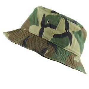 ORIGINAL NEWHATTAN MEN & WOMEN'S 100% COTTON FISHING BUCKET HAT CAP  - S/M L/XL