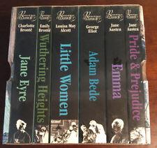 6 ROMANCE CLASSICS PAPERBACK BOOKS * JANE EYRE * LITTLE WOMEN * EMMA * ADAM BEDE