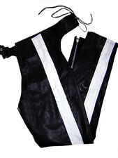 Lederchaps schwarz gay CHAPS Lederhose leather pants black white Pantalon Cuir