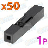 Carcasa plastico Dupont 2,54mm - 1p - Lote 50 unidades - Arduino Electronica DIY