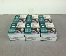 QTY12 Lot Sylvania 100A/RS/2/RP Rough Service Frosted Light Bulbs 100W 130V