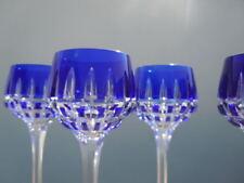 Verres cristal taillé Saint louis France Verre Cristal couleur bleu