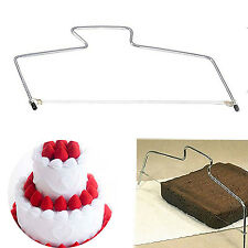 WELL Cake Slicer Cutter & Levelling Adjustable wire Saw blade Leveller Birthday