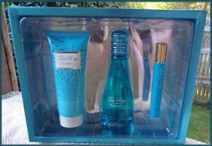 "NIB Women's ""True Blue"" 3 pc Gift Set  Lotion * Spray Perfume & Perfume Roller"