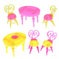 1 set Table Chair  doll Dollhouse Dining Room Kitchen Decor Furniture L fC