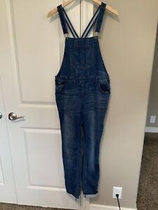 Justice Blue Denim Jean Overalls XL 18 1/2