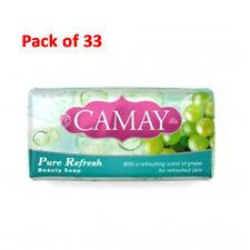 33-Pack Camay Beauty Bar Soap Pure Refresh Grape Original New Sealed 6.1oz 175g