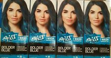 Lot Of 4 Splat 1 Wash Bolder Blue Temporary Hair Dye 1.5 Fl Oz (44 ML) Each New