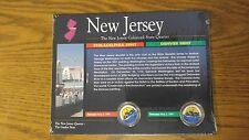 1999 P/D New Jersey Colorized State Quarters The American Historic Society/w COA
