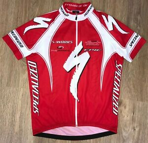 Specialized S-Works rare red cycling jersey size XL