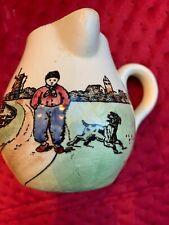 Vintage G.S. Zell Baden Germany Small Creamer Pitcher Dutch Windmill Dog