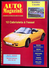 Auto Magazine n° 287 du 06/1992; 12 Cabriolet a l'essai/ Bruce Sprigsteen/ Acadi