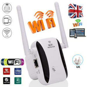 Wireless Wifi Extender Repeater Range Signal Amplifier 300Mbps Router Booster