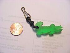 Zipper Pull - Green Crocodile - Plastic with black cord