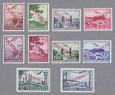 Serbien Mi.Nr. 16-25 postfrisch