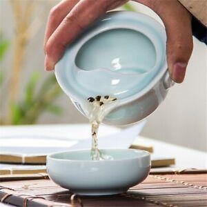 China Kung Fu Tea Set Ceramic Celadon 3D Carp 1 Tea Pot 1 Tea Cup Teapot Canteen
