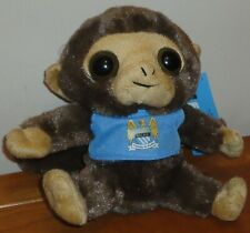 Official Manchester City FC Football Supporters Soft Boru Monkey Plush Toy BNWT