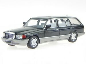 Mercedes W126 500 SEL station wagon 1990 black resin modelcar 43037020 KESS 1:43