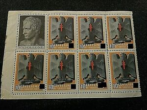 lotto 8 pezzi erinnofilo francobolli 10 centesimi tubercolosi ventennio 2 croci