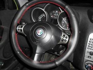 Coprivolante Alfa Romeo 147 vera pelle nera