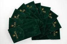 10 Custodie Rolex Tessuto Morbido Floccate Verde NEW Promozione Antigraffio