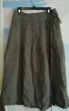 Krista larson My Favorite Skirt in 100% Herringbone Linen in a River Rock, OS