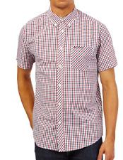 Ben Sherman House Check Short Sleeve Shirt Red/Blue 0048830